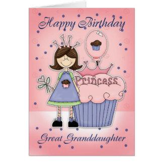 Great Granddaughter Birthday Card - Cupcake Prince