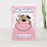 "Great Granddaughter Birthday Card - Cute Purse Pet<br><div class=""desc"">Great Granddaughter Birthday Card - Cute Purse Pet</div>"