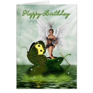 Great Granddaughter, Birthday Card - Fantasy Swan
