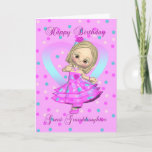 """great granddaughter birthday card - pink and blue<br><div class=""""desc"""">great granddaughter birthday card - pink and blue polka dot</div>"""