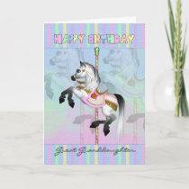 great granddaughter carousel birthday card - paste