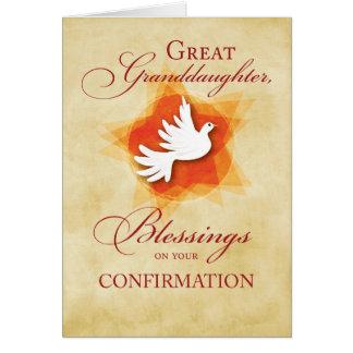 Great Granddaughter, Confirmation Congratulations Card