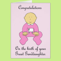 Great Granddaughter Congratulations Card