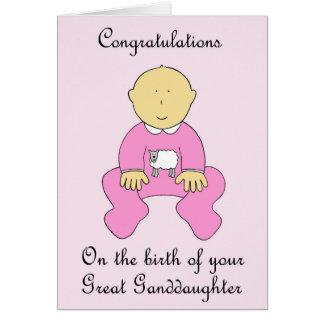 Great Granddaughter Congratulations Card