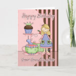 """Great Granddaughter Cute Birthday Card - Cupcakes<br><div class=""""desc"""">Great Granddaughter Cute Birthday Card - Cupcakes And Tea</div>"""