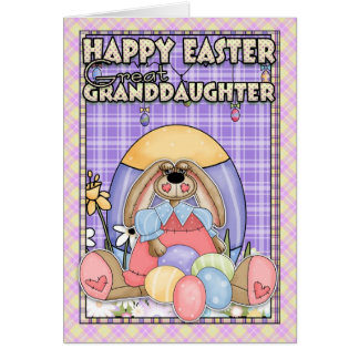Granddaughter easter gifts on zazzle great granddaughter easter card easter bunny amp negle Gallery
