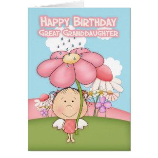 Great Granddaughter Little Garden Fairy Card