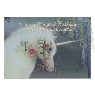 Great Granddaughter Unicorn Birthday Card Magical