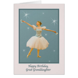 Great Granddaughter's Birthday with Ballet Dancer Card