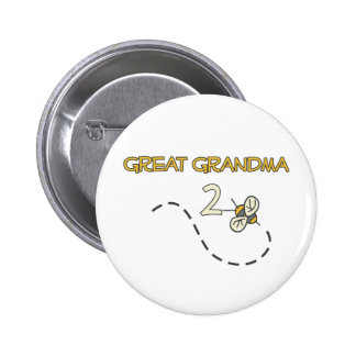 Great Grandma 2 Bee 2 Inch Round Button