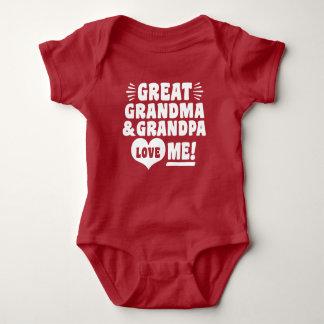 Great Grandma and Great Grandpa Loves Me Baby Bodysuit