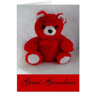 Great Grandma Bear Greeting Card by Janz