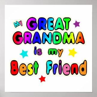 Great Grandma Best Friend Poster
