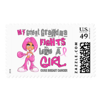 Great Grandma Fights Like Girl Breast Cancer 42 9 Postage Stamps