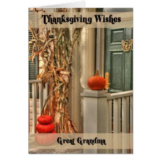 Great Grandma Happy Thanksgiving Card