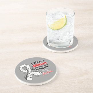 Great-Grandma Hero in My Life Lung Cancer Drink Coaster