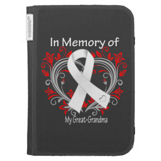 Great-Grandma - In Memory Lung Cancer Heart Kindle 3 Covers