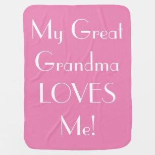 9d0990fea7 Great Grandma Loves Me Baby Blanket - Pink