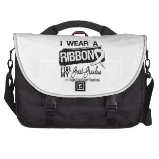 Great-Grandma Lung Cancer Ribbon Computer Bag