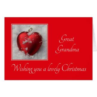 great grandma Merry Christmas card