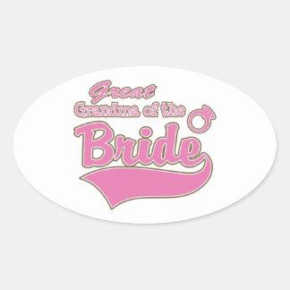 Great Grandma of the Bride Oval Sticker