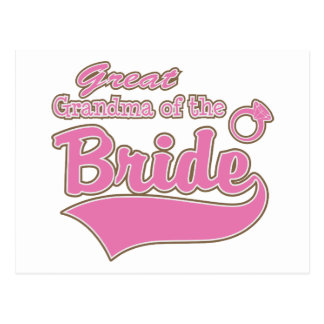 Great Grandma of the Bride Post Card