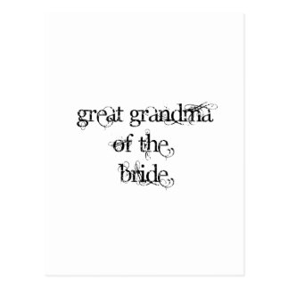 Great Grandma of the Bride Postcard