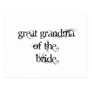 Great Grandma of the Bride Postcard