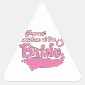 Great Grandma of the Bride Triangle Sticker