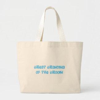 Great Grandma of the Groom Canvas Bags
