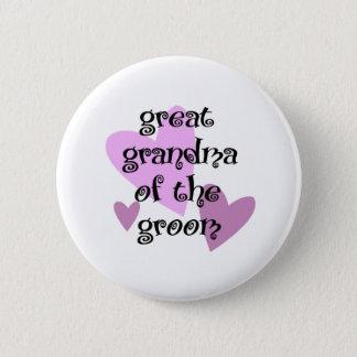 Great Grandma of the Groom Pinback Button
