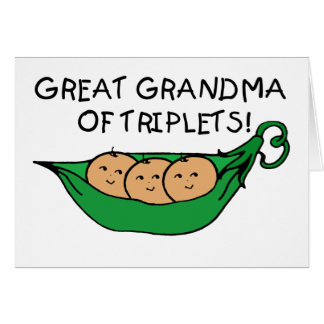 Great Grandma of Triplets Card