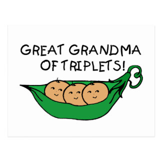 Great Grandma of Triplets Postcard