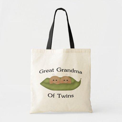 Great Grandma Of Twin Budget Tote Bag