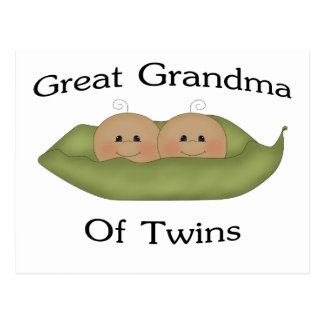 Great Grandma Of Twin Postcard