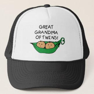 Great Grandma of Twins Pod Trucker Hat