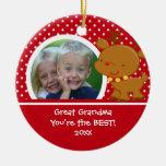 Great Grandma Photo Reindeer Christmas Ornament