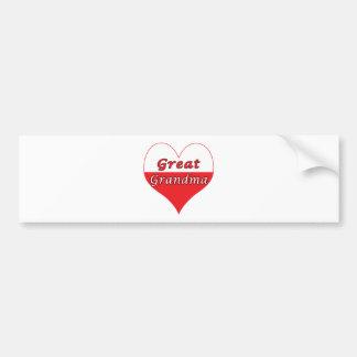 Great Grandma Polish Heart Bumper Sticker