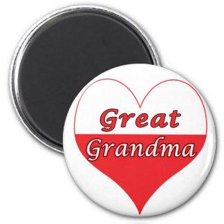 Great Grandma Polish Heart Magnet