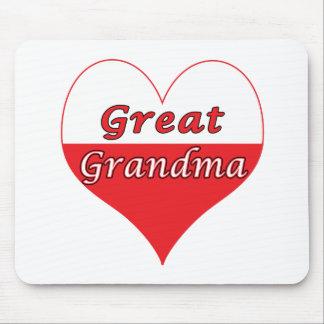 Great Grandma Polish Heart Mouse Pad