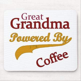 Great Grandma Powered By Coffee Mouse Pad