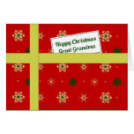 Great Grandma red Christmas parcel Greeting Card