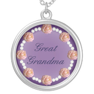 Great Grandma Roses and Pearls Necklace