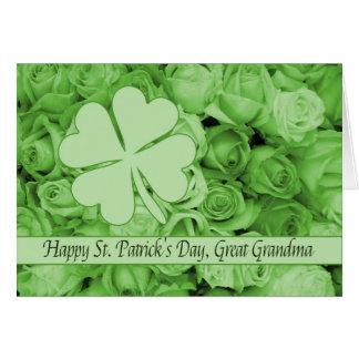 Great Grandma St. Patrick's Irish roses Card