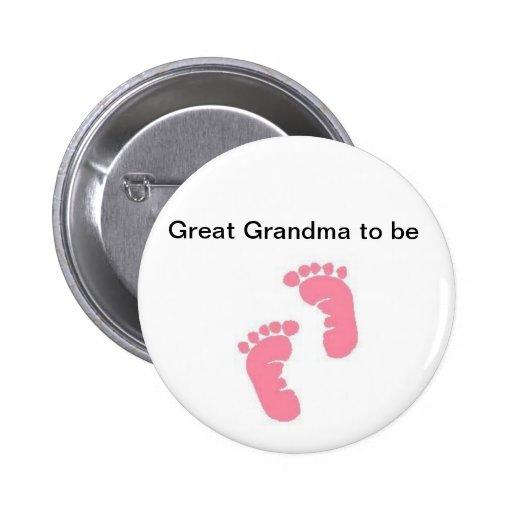 Great Grandma to be Pin