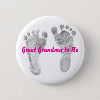 Great Grandma to Be Button