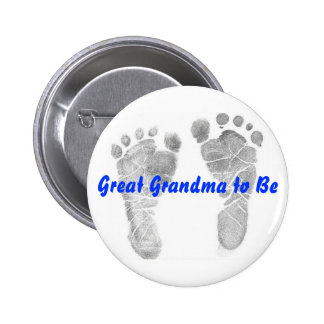 Great Grandma to Be Pinback Button