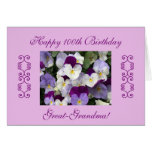 Great-grandma's 100th birthday cards