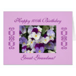 Great-grandma's 100th birthday Large Large Greeting Card