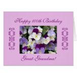 Great-grandma's 100th birthday Large Large Greeting Card